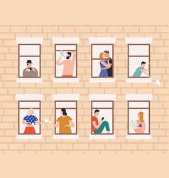 neighbors and neighborhood concept flat vector image