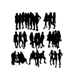 people activity silhouettes vector image