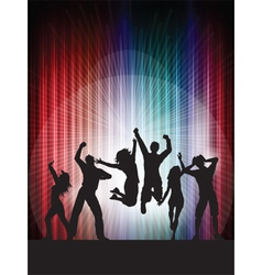 people dancing vector image