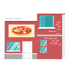 pizzeria restaurant cartoon vector image