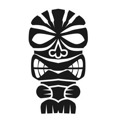 Polynesian idol icon simple style vector