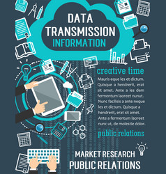 Public relation and market research concept banner vector