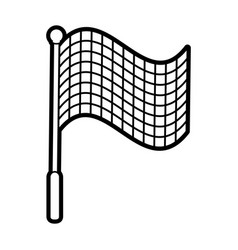Racing flag silhouette vector