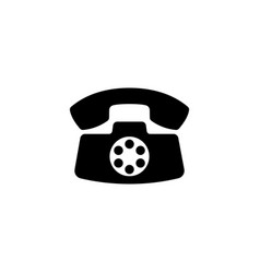 retro old phone flat icon vector image