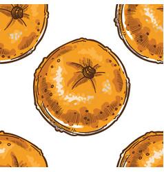 ripe mandarin or tangerine clementine seamless vector image