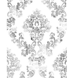 rococo texture pattern floral ornament vector image
