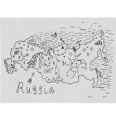 Russia map vector