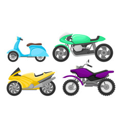 Set different motorcycles vector