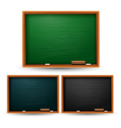 set of colored blackboard on white background vector image