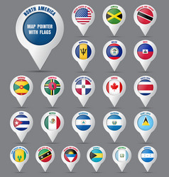 set the pointer to the map with the flag of the vector image