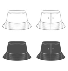 Set with a panama hat vector