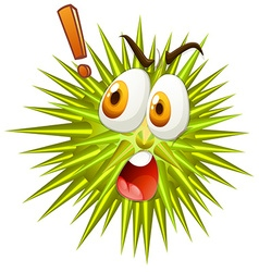 Shocking face on thorny ball vector