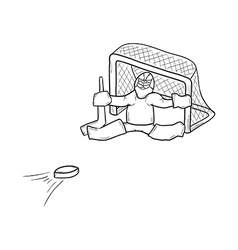 sketch of the goalkeeper vector image