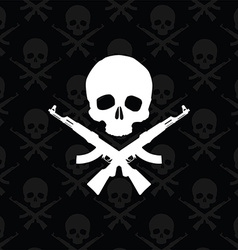 Skull with rifles vector