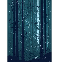 Snowy winter forest2 vector