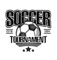 soccer logo design template vector image