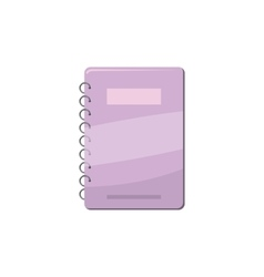 Spiral notebook with lilac cover icon vector