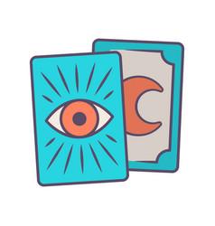 Tarot cards blue color icon tarocchi tarock vector
