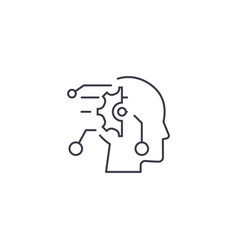 technical mind line icon sign vector image