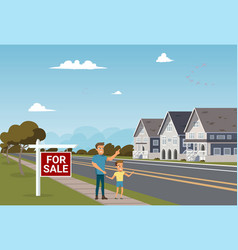 the concept of for sale country townhouse vector image