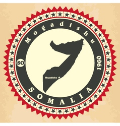 Vintage label-sticker cards of Somalia vector image