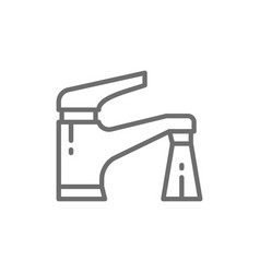water tap line icon vector image