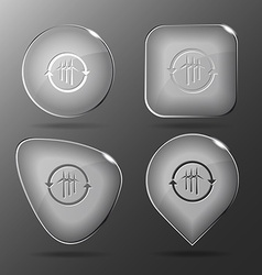 Wind turbine Glass buttons vector