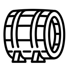 wood barrel icon outline style vector image