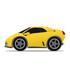 Yellow race car vector