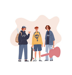 young style vector image