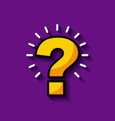 bright question mark image vector image