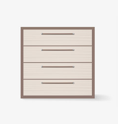 commode realistic design on white background vector image vector image