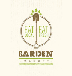 garden market food concept eco local food vector image vector image