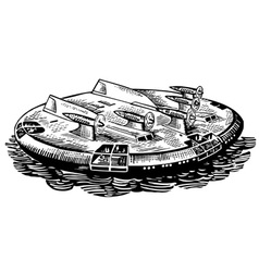 hovercraft vector image vector image