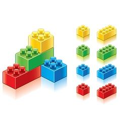 object plastic blocks vector image vector image