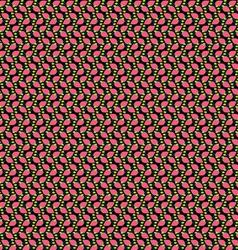 Pink green black pattern vector image
