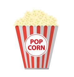 popcorn icon flat cartoon style isolated on vector image