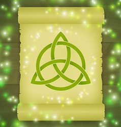 Triquetra symbol spell vector image
