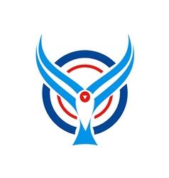 Bird fly aviation logo vector