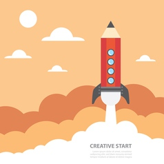 Creative start vector image vector image