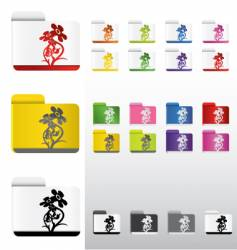 flower folders vector image vector image