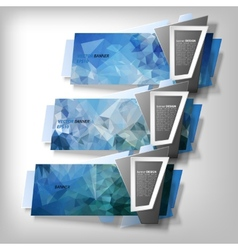Infographic banners set origami styled vector image vector image