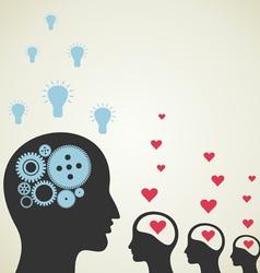Love idea vector image