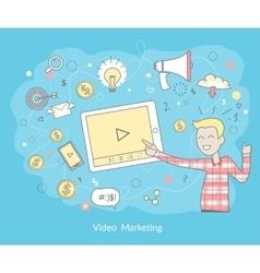 Video Marketing Concept vector image vector image