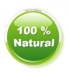 100 percent natural vector image vector image