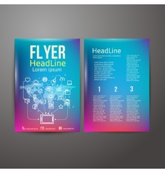 Abstract brochure flyer design vector
