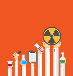 flat style design chemical card vector image