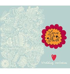 Floral Wedding Invitation Background vector image vector image