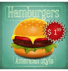 Hamburgers Menu vector image