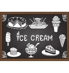 Ice cream and desserts vector image